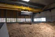 Das Kraftwerk in der ARA Morgental in Steinach, wo Holz zur Wärmegewinnung eingeheizt wird. (Bild: Coralie Wenger)