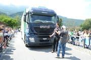 Beeindruckend: Ein Lastwagen, der nur mit Strom angetrieben wird. Die Reichweite beträgt bis zu 300 Kilometer.