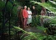 Die drei Initianten der Ausstellung (von links): Beat O. Iten, Annemie Lieder und Urs Sibler. (Bild: Stefan Kaiser (Sins, 12. Juni 2018))