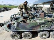 Schweizer Rüstungsfirmen dürfen Kriegsmaterial künftig unter gewissen Bedingungen auch in Länder exportieren, in denen ein interner bewaffneter Konflikt herrscht. Das hat der Bundesrat beschlossen. (Bild: KEYSTONE/LAURENT GILLIERON)