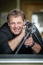 «Beim Schiessen darf man nicht denken» - Koni Zeller vom SV Ramschwag. (Bild: Hanspeter Schiess)