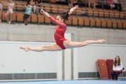 An den Schweizer Meisterschaften vom Wochenende glänzte die 15-jährige Kunstturnerin Francesca Nocita. (Bild: Nicole Buholzer)