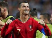 So sieht unbändiger Siegeswille aus: Cristiano Ronaldo nach seinem zweiten Tor. (Bild: Keystone)