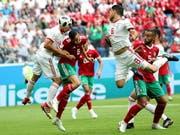 Marokko und der Iran schenkten sich nichts (Bild: KEYSTONE/EPA/TOLGA BOZOGLU)