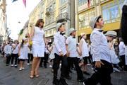 Der traditionelle Kinderfestumzug vor drei Jahren. (Bild: Donato Caspari)