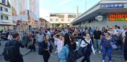 Chaos am Bahnhof Winterthur. (Bild: Keystone/Markus Laeng)