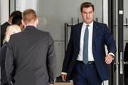 Bayerns Ministerpräsident Markus Söder (CSU) bleibt in der Flüchtlingsfrage stramm auf Rechtskurs. (Bild: Clemens Bilan/EPA (Berlin, 14. Juni 2018))