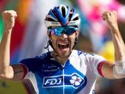 Thibaut Pinot muss auf einen Start an der Tour de France verzichten (Bild: KEYSTONE/AP/PETER DEJONG)