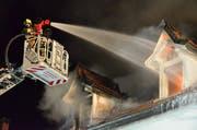 Die Ursache des Brands vom 23. Februar 2017 in Arbon konnte nie eindeutig geklärt werden. (Bild: Max Eichenberger)
