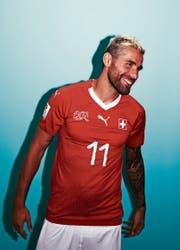 Valon Behrami: «Das Schweizer Team lebt von der Euphorie.» (Bild: Adam Pretty/Getty (Samara, 12. Juni 2018))
