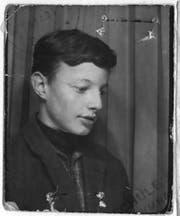 Louis Schelbert als Schüler.