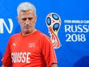 Vladimir Petkovic geht mit viel Vertrauen ins Spiel gegen Brasilien (Bild: KEYSTONE/EPA KEYSTONE/LAURENT GILLIERON)