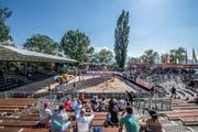Beach Volleyball World Tour auf dem Lido in Luzern. Auf dem Bild zu sehen sind Impressionen. (Bild: Pius Amrein, 11. Mai 2018)