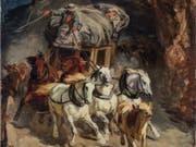 «Die Gotthardpost» von Robert Koller hat bei der Kunst-Auktion der Berner Galerie Kornfeld doch noch einen Käufer gefunden. Das Gemälde gilt als Ikone der Schweizer Malerei des 19. Jahrhunderts. (Bild: ZVG)
