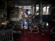 In Nicaragua hat es am Samstag bei Unruhen erneut zahlreiche Tote gegeben - und dies, obwohl zwischen den Konfliktparteien ein Gewaltverzicht vereinbart worden war. (Bild: KEYSTONE/EPA EFE/JORGE TORRES)