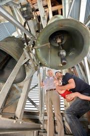Die Besucher dürfen den Turm der Kirche in Scherzingen besteigen. (Bild: Donato Caspari)