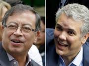 Petro oder Duque: Die Kolumbianer müssen sich am heutigen Sonntag in einer Stichwahl für einen neuen Präsidenten ihres Landes entscheiden. (Bild: KEYSTONE/AP/RICARDO MAZALAN, FERNANDO VERGARA)