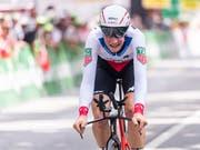 Stefan Küng gewann in Bellinzona seine erste Tour-de-Suisse-Etappe (Bild: Gian Ehrenzeller / Keystone, Bellinzona, 18. Juni 2018)))