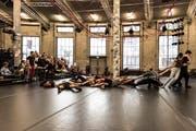 Öffentliche Probe des Choreografiewettbewerbs des Theaters St.Gallen zum Tanzprojekt «Seven» in der Lokremise. (Bild: Sabrina Stübi)