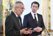 Der österreichische Bundespräsident Alexander Van der Bellen und der Regierungschef Sebastian Kurz. (Hans Punz/Keystone)
