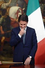 Zwischen den Fronten: der neue italienische Regierungschef Giuseppe Conte. (Bild: Simona Granati/Getty (Rom, 13. Juni 2018))