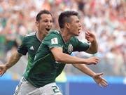 Hirving Lozano erzielte für Mexiko das 1:0 gegen Deutschland (Bild: KEYSTONE/EPA/PETER POWELL)