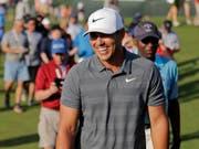 Brooks Koepka und das Lächeln eines grossen Siegers (Bild: KEYSTONE/AP/SETH WENIG)
