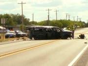 Bei einer Verfolgungsjagd in Texas sind am Sonntag mindestens fünf illegale Einwanderer ums Leben gekommen. (Bild: KEYSTONE/AP KABB/WOAI)
