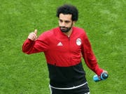 Ägyptens Starspieler Mohamed Salah wird das zweite WM-Spiel bestreiten können (Bild: KEYSTONE/EPA/MAHMOUD KHALED)