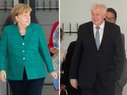 Der Streit zwischen CDU und CSU über die Asylpolitik wurde in der vergangenen Woche immer erbitterter. Jetzt beraten die Führungsgremien beider Parteien darüber. Kommt es zum Showdown zwischen Kanzlerin Merkel und ihrem Innenminister Seehofer? (Bild: Keystone/DPA/KAY NIETFELD)
