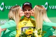 Richie Porte gewinnt die 82. Tour de Suisse (Bild: Gian Ehrenzeller / Keystone, Bellinzona, 18. Juni 2018)))