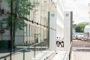 Der General-Electric-Hauptsitz in Baden. Bild: Claudio Thoma/AZ (Baden, 18. Juni 2018)