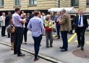 Süsse Überraschung hinter dem Luzerner Regierungsgebäude. (Bild: Evelyne Fischer, Luzern, 18. Juni 2018)