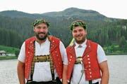 Daniel Bösch (links) und Beat Wickli feierten in Arosa ihre Erfolge. (Bild: PD)