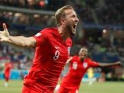Harry Kane schiesst mit seinen zwei Toren England zum 2:1-Sieg über Tunesien (Bild: KEYSTONE/EPA/FRANCIS R. MALASIG)