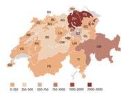 Abwanderung aus dem Kanton St.Gallen. (Quelle: Fachstelle für Statistik Kanton St.Gallen/Grafik: Selina Buess)