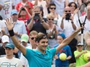 Roger Federer hat derzeit allen Grund zur Freude (Bild: KEYSTONE/AP dpa/MARIJAN MURAT)