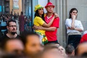 Brasilien oder Schweiz? (Bild: Philipp Schmidli (Luzern, 17. Juni 2018))