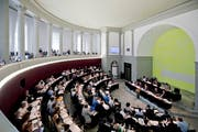 Blick in den Kantonsratssaal Luzern. (Bild: Pius Amrein (Luzern, 12. September))