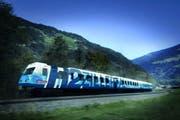 Visualisierung der Designstudie des weltweit ersten Schmalspur-Wasserstoffzugs, den Stadler für die Zillertalbahn bauen wird. (Bild: PD)