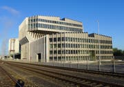 Das Gebäude der Kehrichtverbrennungsanlage Renergia in Perlen. (Bild: PD)