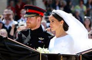 Prinz Harry und Meghan Markle. Bild: Gareth Fuller/AP (London, 19. Mai 2018)