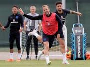 Harry Kane und die Engländer haben wieder Spass (Bild: KEYSTONE/AP/DMITRI LOVETSKY)