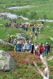Die 106 Teilnehmer des Gotthardmarschs hatten grosses Wetterglück. (Bild: PD)