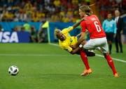 Michael Lang wurde im gestrigen Spiel gegen Brasilien in der zweiten Halbzeit für Stephan Lichtsteiner eingewechselt.