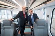 Arbeiten künftig nicht mehr zusammen: Fredy Brunner, ehemaliger VR-Präsident der Appenzeller Bahnen und Dirketor Thomas Baumgartner. Bild: Ralph Ribi