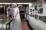Musikalisch und privat ein Paar: Angela Golubeva und Martin Lucas Staub vom Swiss Piano Trio in der Kunsthalle Ziegelhütte Appenzell. Der Musiker ist dort seit 2009 musikalischer Leiter der Konzertreihen. (Bild: Sabrina Stübi)