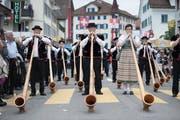 Festumzug des des letzten Zentralschweizerisches Jodlerfest Schüpheim im Jahr 2016. (Bild: Pius Amrein, 26. Juni 2016)