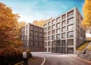 So könnte das Ärztehaus an der Rigistrasse dereinst aussehen. (Visualisierung: PD)