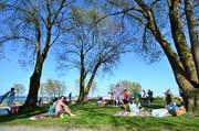 Die Ufschütti am See ist ein beliebter Ort bei Jung und Alt. (Bild: Max Eichenberger)
